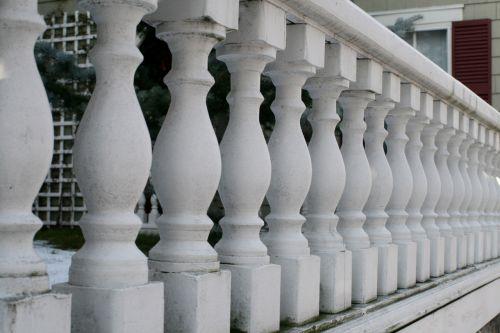 White Porch Railings
