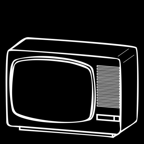 White Portable Tv