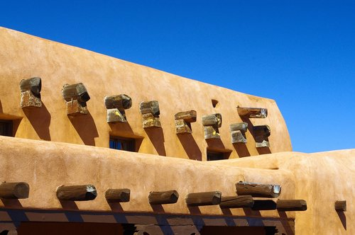 white sands adobe  new mexico  building