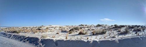 white sands national monument  desert  panoramic
