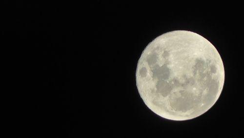 White Super Moon