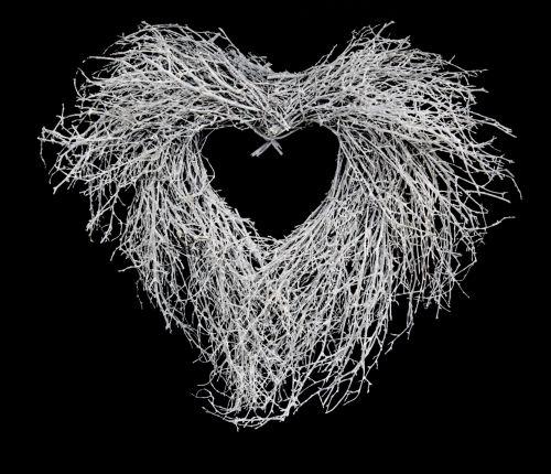 White Twigs Heart