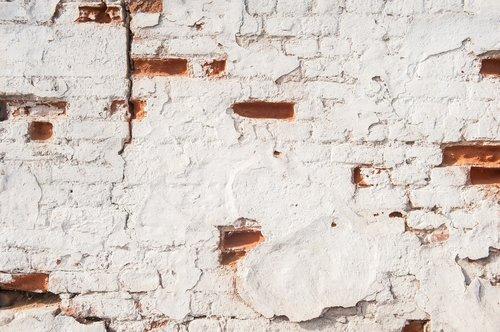 white wall  red brick  brick