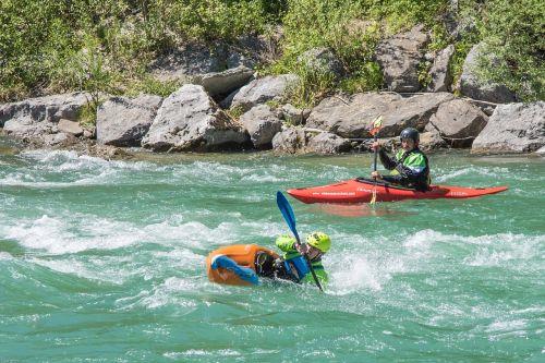 white water river canoeing