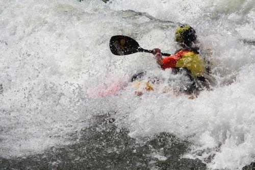 white water kayaking river