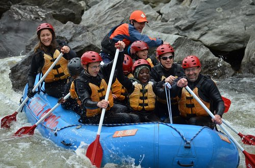 whitewater  rafting  outdoors