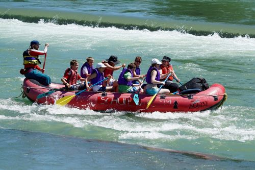 whitewater rafts river flow