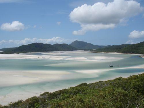 whitsundays - australia,jūra,australia,vandenynas,mėlynas,papludimys,vanduo,kalnai,kraštovaizdis,Rodyti,vasara,atostogos