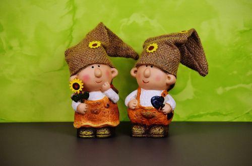 wichtel couple spring imp decoration