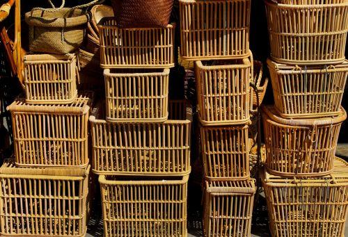 wicker basket woven