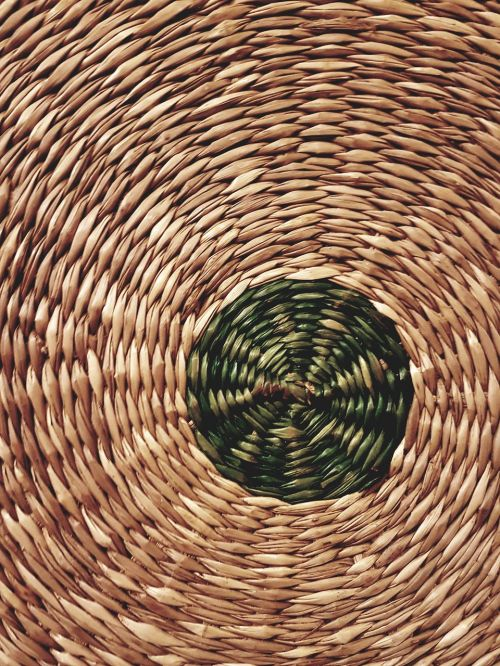 wicker basket with central