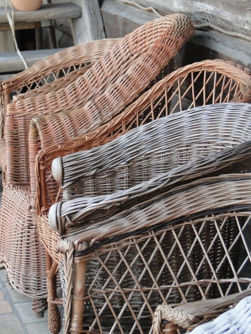 wicker wooden weaving