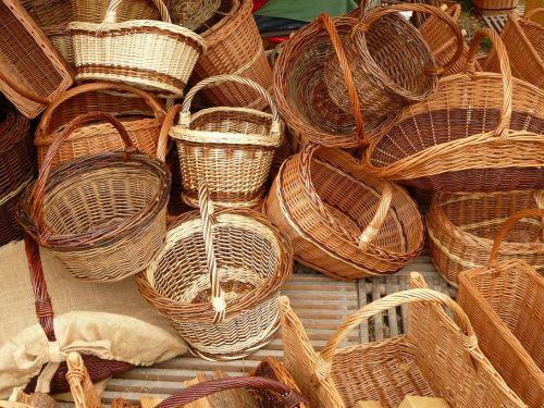wicker baskets weave