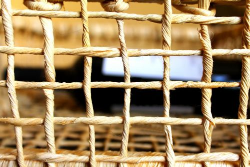wicker basket interlaced