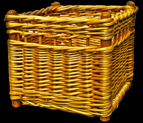 wicker basket  basket  woven