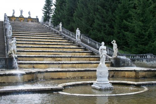 Wide Steps With Fountains