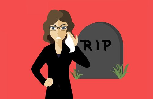 widow  funeral  grave