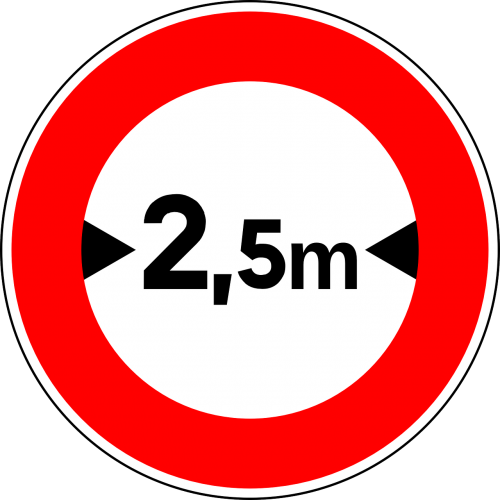 width limit sign road sign