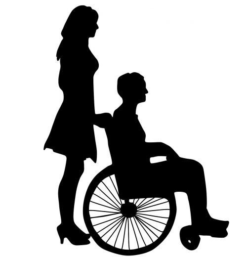wife and wheelchair love casal