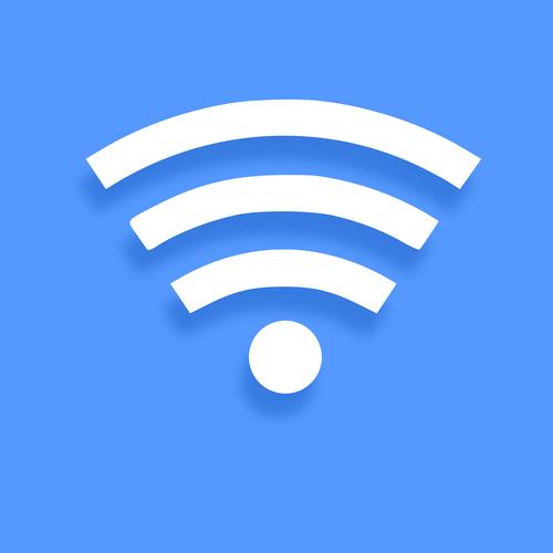 wifi icon  blue  symbol
