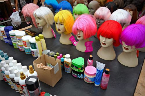 wig hair doll