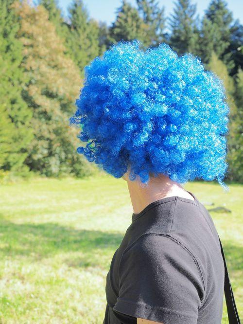 wig blue hair