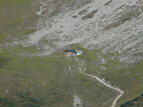 wild field hut hut mountain hut