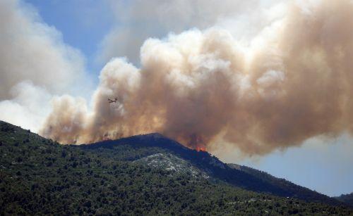 wildfire fire smoke