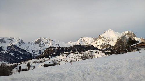 wildhaus  switzerland  snowy mountains
