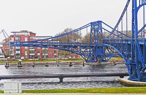wilhelmshaven  kaiser wilhelm bridge  swing bridge