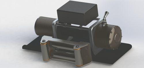 winch model animation
