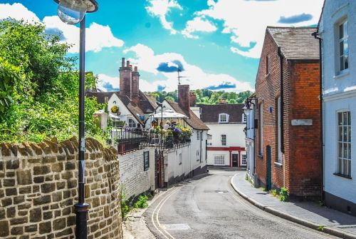winchester,street,uk,brick,architecture,building,exterior,outdoors,england,road,free photos,free images,royalty free