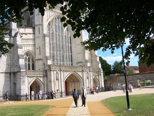 winchester cathedral winchester summertime