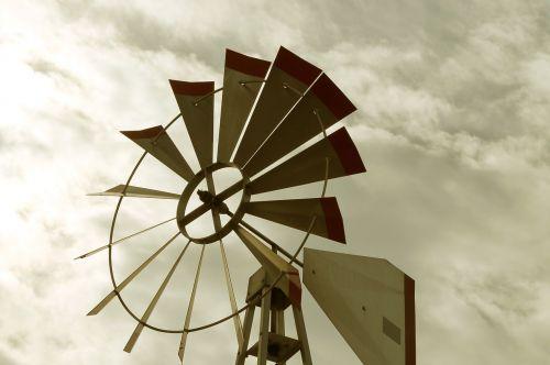 wind windmill cloudy