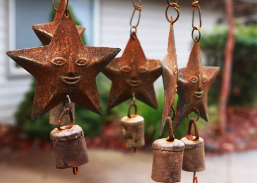 wind chimes star iron