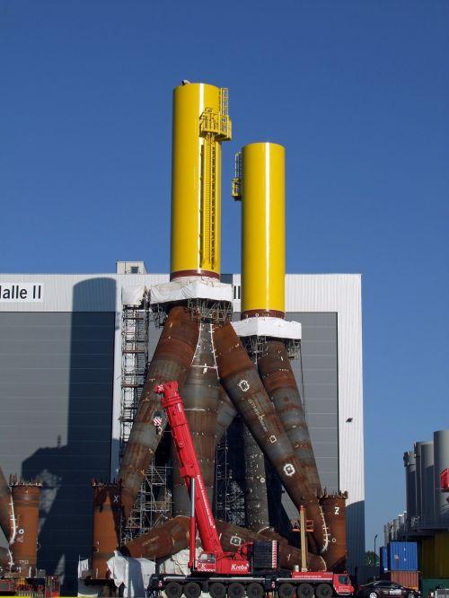 wind power offshore tripod