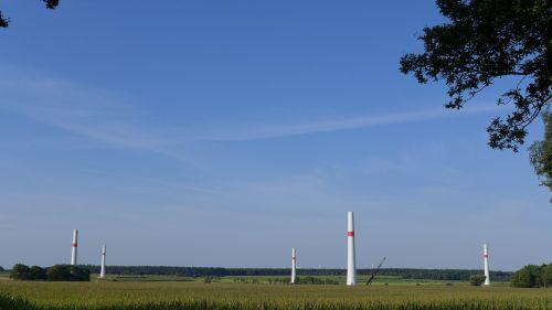 wind power pinwheel construction phase