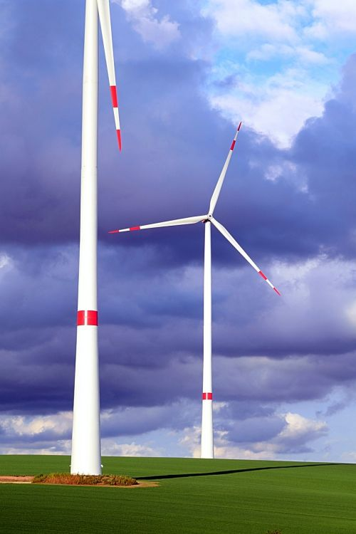 wind power eco electricity pinwheel