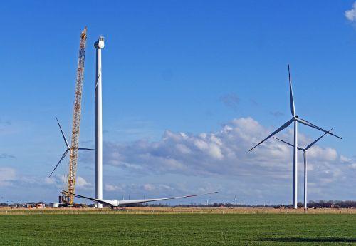 wind power pinwheel building