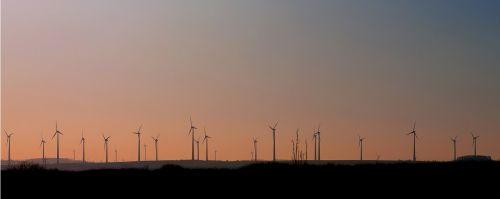wind power energy sunset