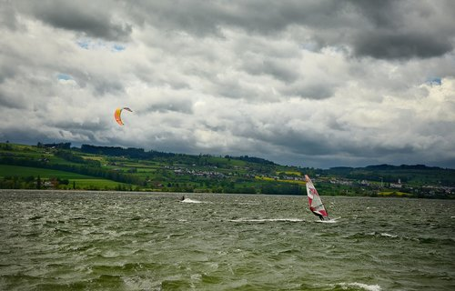 wind surfing  kite surfing  water sports