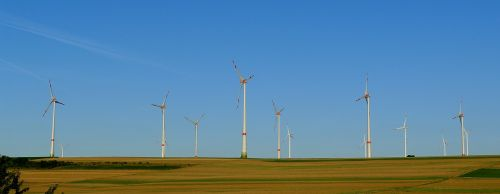 wind turbine field windmill blades propeller