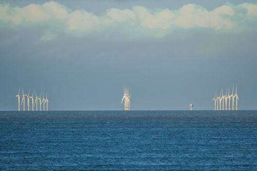 wind turbines north sea norfolk