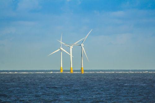 wind turbines north sea england