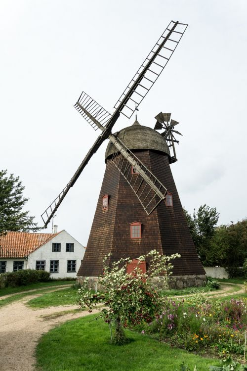 windmill bornholm denmark