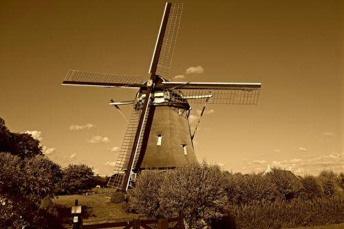 windmill mill dutch windmill