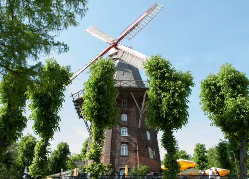 windmill bremen wall windmill