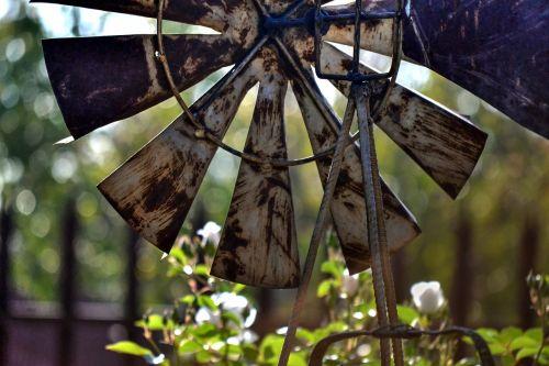 windmill garden rusted