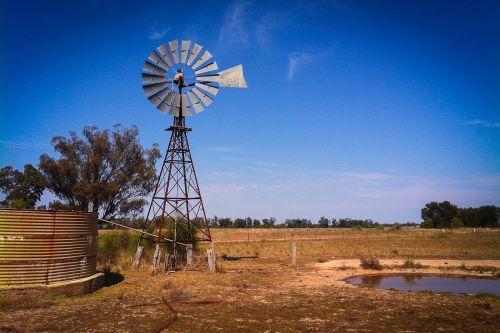 windmill old windmill farmer