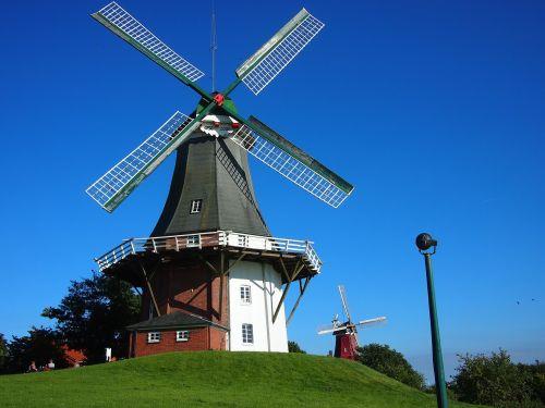 windmill greetsiel greetsieler twin mills